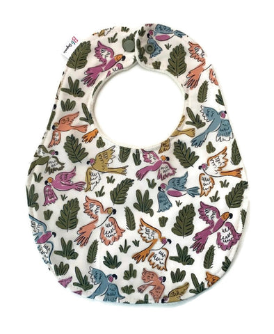 Tropical Birds Organic Newborn Bib