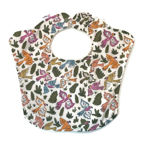 Organic Tropical Birds Baby Bib
