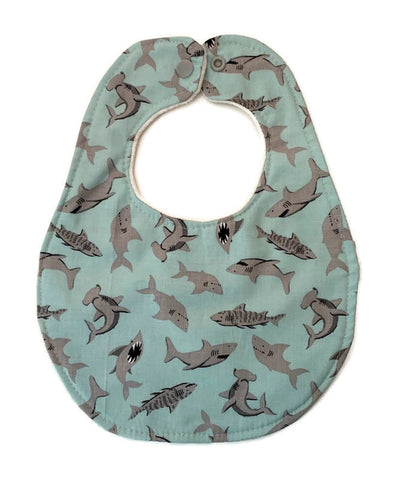Pirate Sharks Newborn Bib