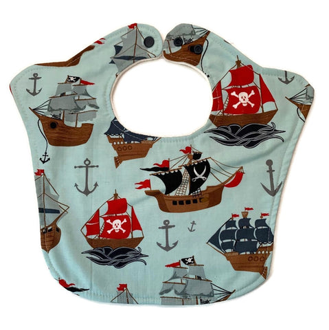 Pirate Ships Original Baby Bib