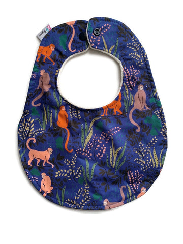 Tranquil Monkeys Organic Newborn Bib Studio Second