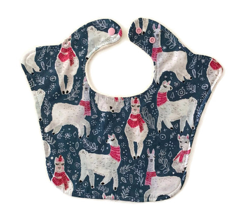 Winter Llamas Original Bourgeois Baby Bib