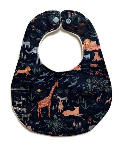 Safari Animals Newborn Bib