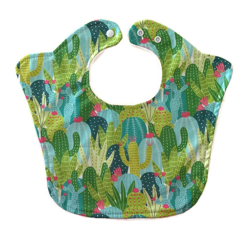 Cactus Bloom Designer Original Baby Bib