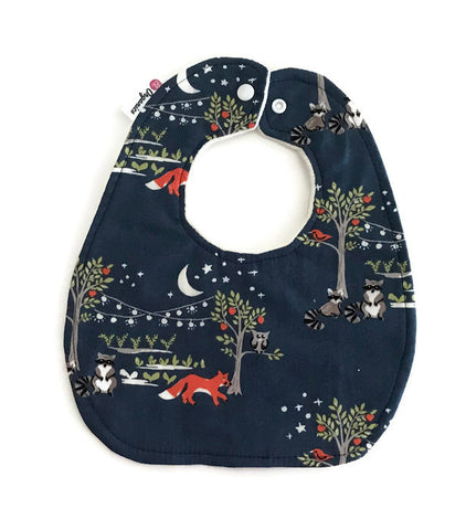 Organic Night Garden Newborn Baby Bib