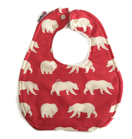 Red Bear Organic Newborn Baby Bib