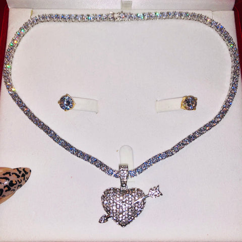 Silver Cupid on Thin Bling Chain Billionaire Box