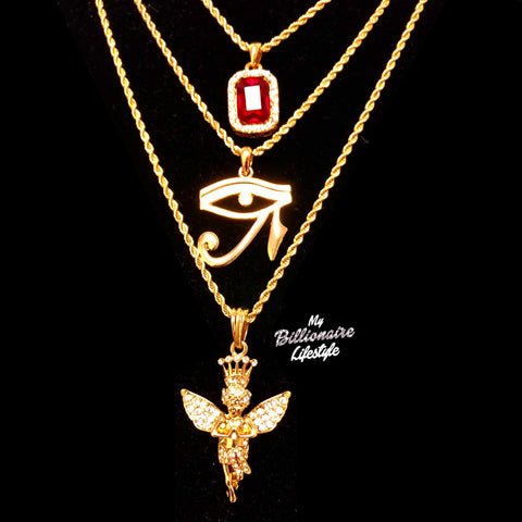 Red Stone / Eye of Horus / Crown Angel Set