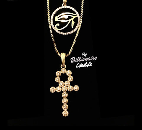 Eye of Horus / Shiny Bling Ankh Set
