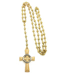 Rosary Bead Cross (Gold)