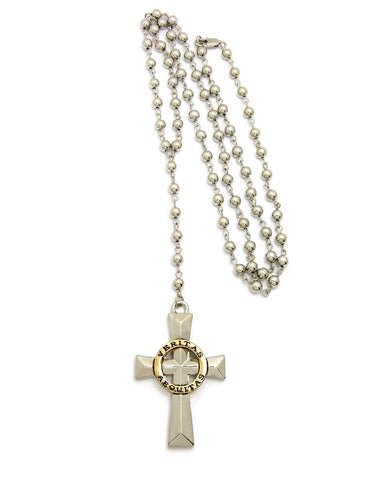 Rosary Bead Cross (Silver)