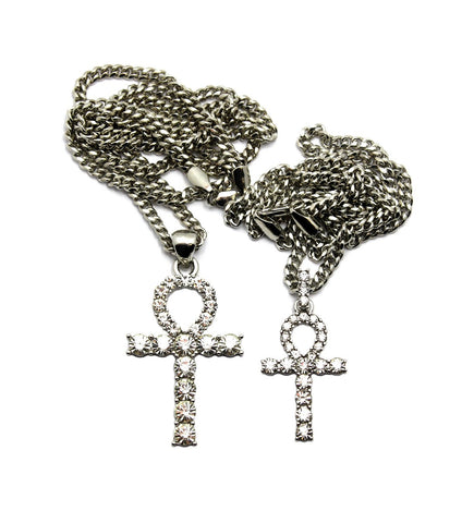 Double Ankh Set (Silver)