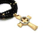 Veritas Abquitas Cross on Beaded Chain