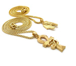 Pharaoh / Eye of Horus Ankh Set (Gold)