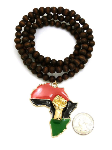 Africa Power Gold (Brown Beads)