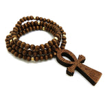 Beaded Ankh (Brown)