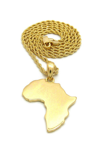 Africa Flat-Small (Gold)