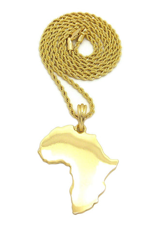 Africa Flat-Large (Gold)