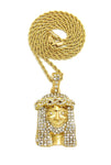 Jesus Piece with Bling Beard (Gold)