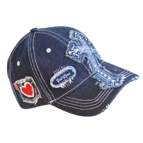 Denim Cross Women's Christian Cap ™