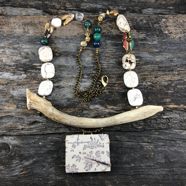 Antler Statement Necklace - Fiadh