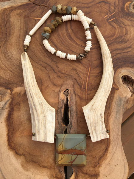 Wild Horse - Antler Statement Necklace