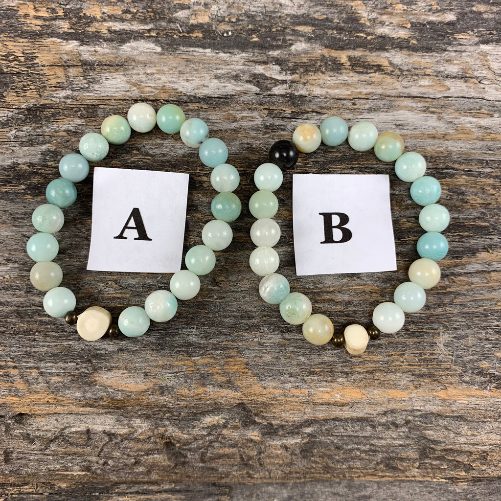 Antler & Amazonite Essential Oil Bracelet - Extra Small