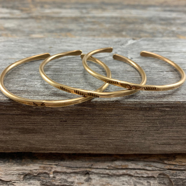 Etched Brass Bangle