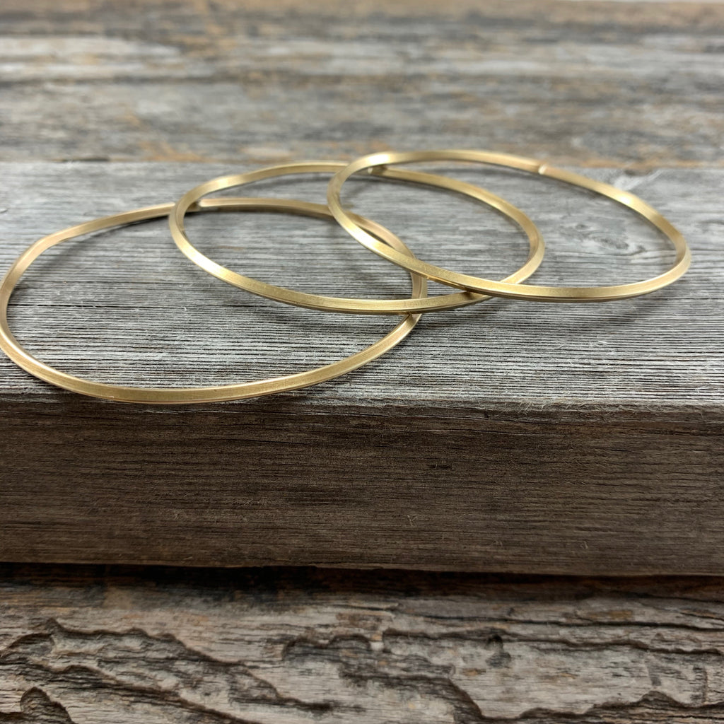 Square Brass Infinity Bangle