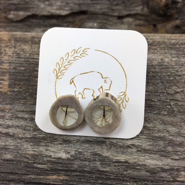 Antler Window Stud Earrings