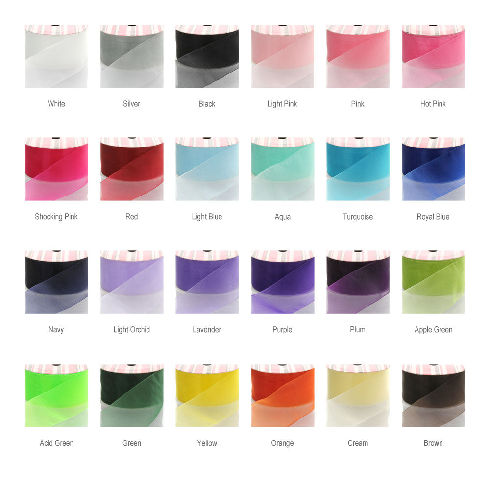Organza Ribbon Color Chart