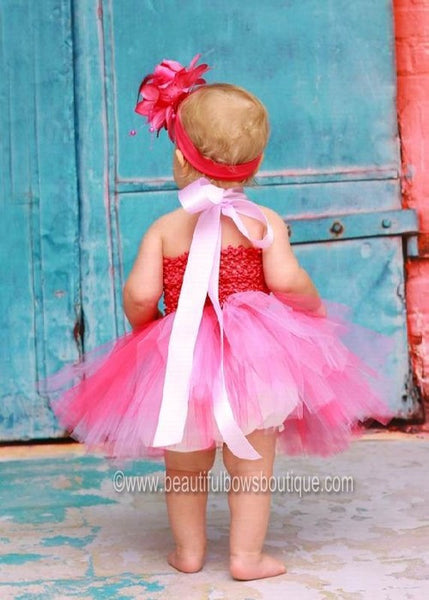 Shocking Hot Pink and Lavendar Tutu Dress