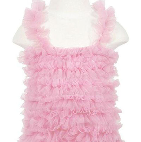 Girls Light Pink Chiffon Petti Tank Top