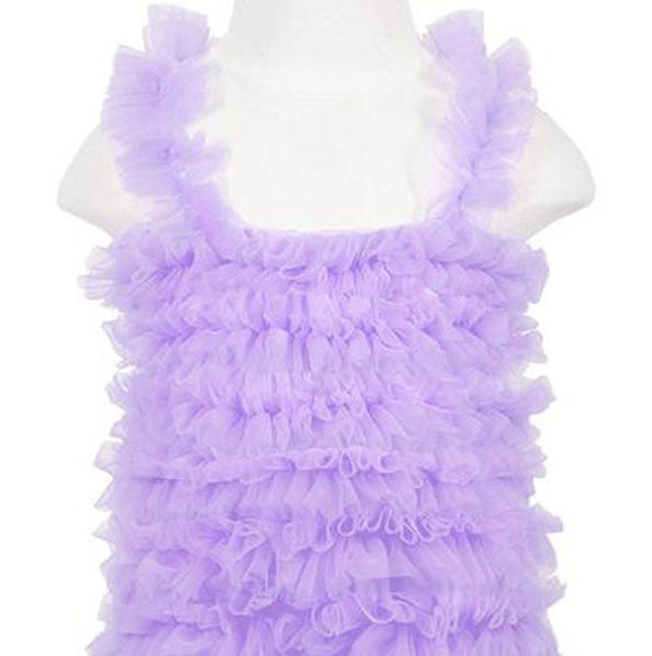 Girls Lavender Chiffon Petti Tank Top