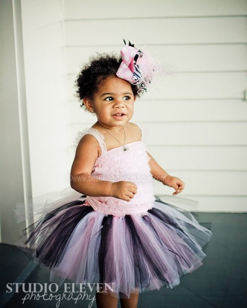 Buy Black and Pink Fluffy Tulle Baby Tutu Online
