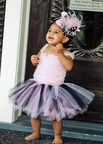 Black and Pink Fluffy Tulle Baby Tutu