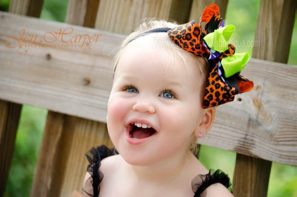 Buy Halloween Cheetah Girls Hair Bow Clip or Headband Online