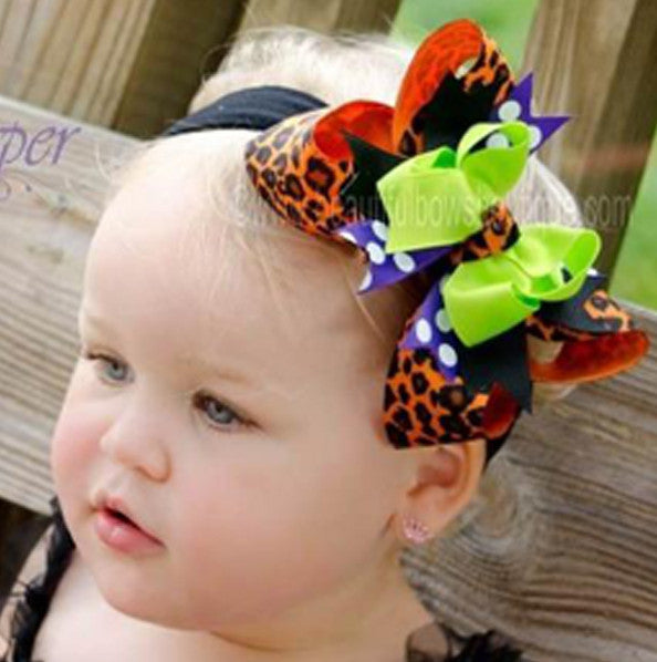 Halloween Cheetah Girls Hair Bow Clip or Headband