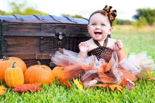 Buy Fall Leaves Baby Girl Tutu Dress Online