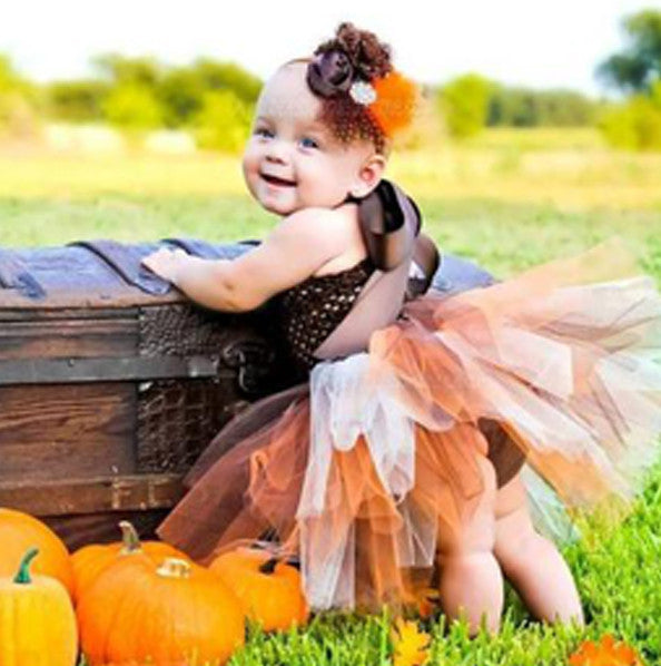 Fall Leaves Baby Girl Tutu Dress