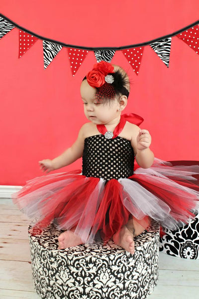 Infant Tutu Dress Red Black White