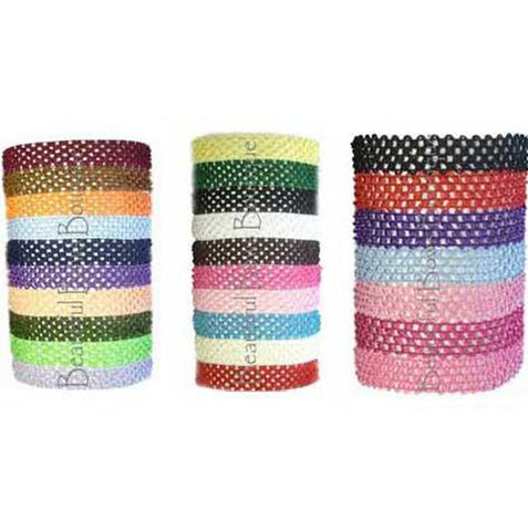 Crochet Headbands -1.5 inch Choose Color