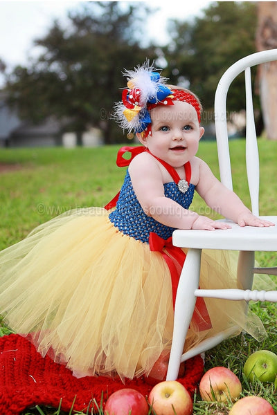 Buy Fancy Snow White Girls Hair Bow Clip or Headband Online