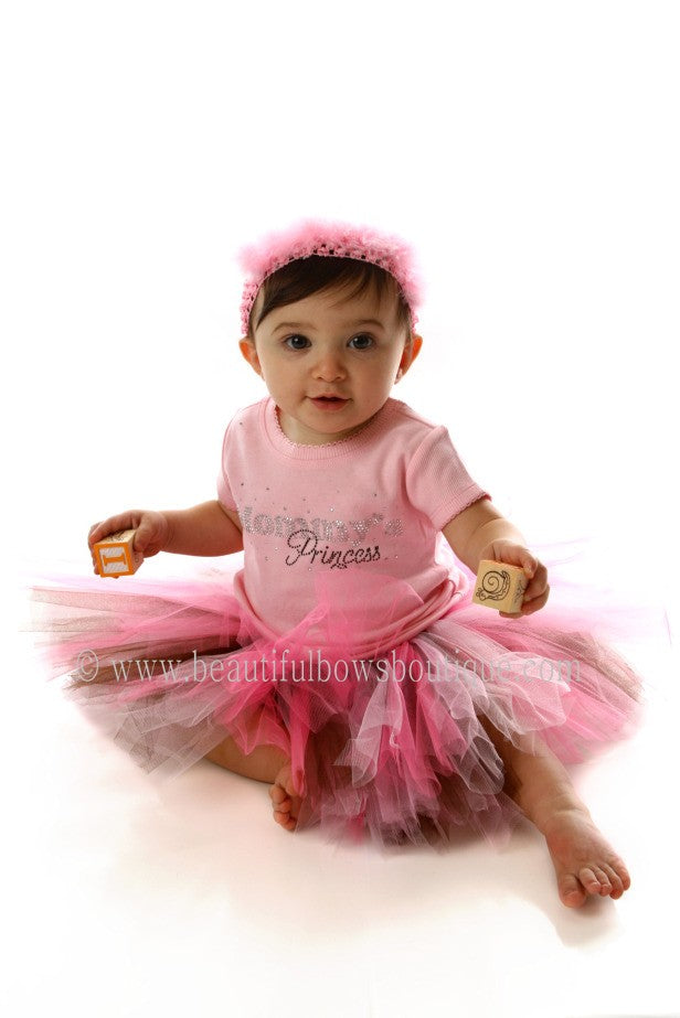 Toddler Girl Cake Smash Tutu Pink and Brown