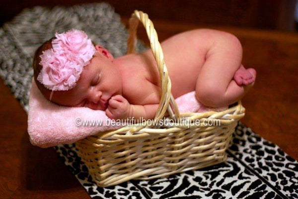 Light PInk Newborn Vintage Baby Headband