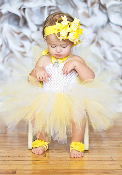 Buy Yellow and White Chevron Kiara Girls Hair Bow Clip or Headband Online