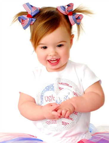 Buy Flag Pigtail Bow Set Infant Toddler Girl-Choose Color Online