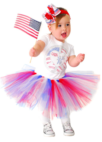 Patriotic Red White Blue Toddler Tutu