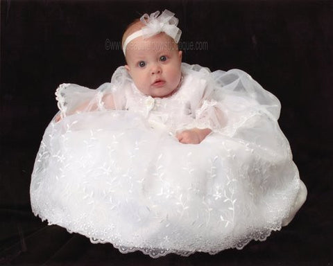 Buy Small Organza White Bow Baby Headband Online
