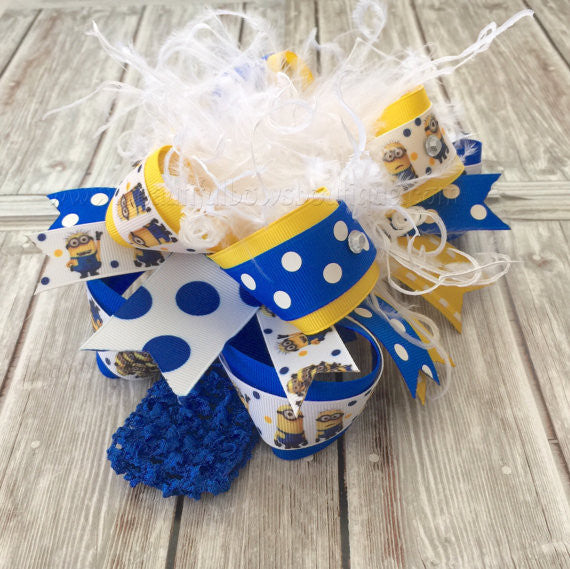 Buy Minion Birthday Costume Hair Bow for Babies and Girls Online
